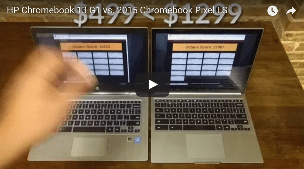 HP Chromebook 13 G1 vs. 2015 Chromebook Pixel LS