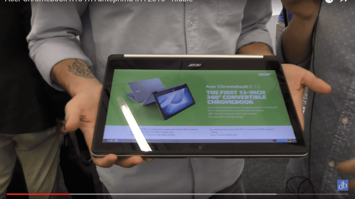 First Hands-On Video of the Acer Chromebook R13