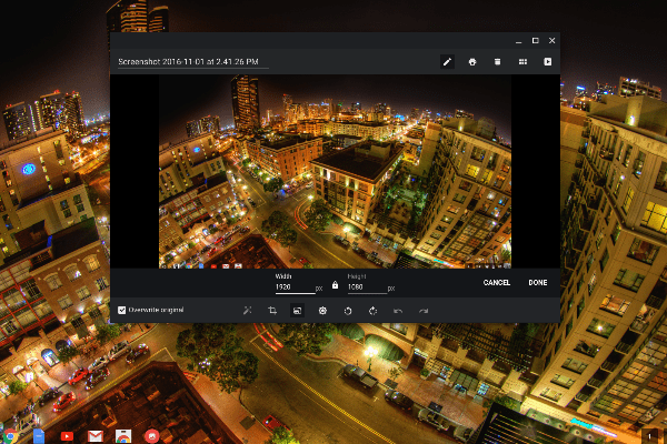 Chrome OS Image Resizing: Almost Home