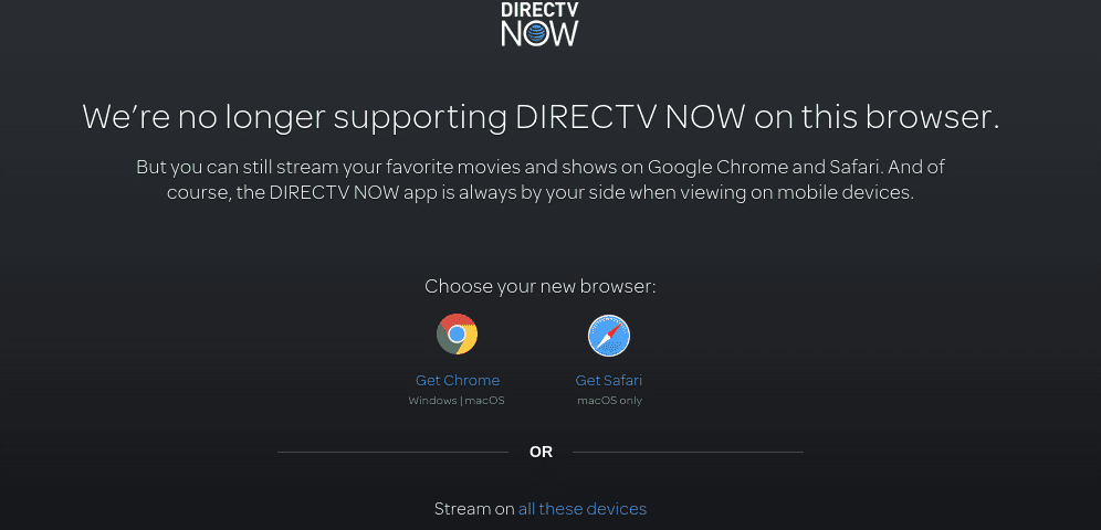 DirecTV Now Ditches Microsoft In Favor Of Chrome