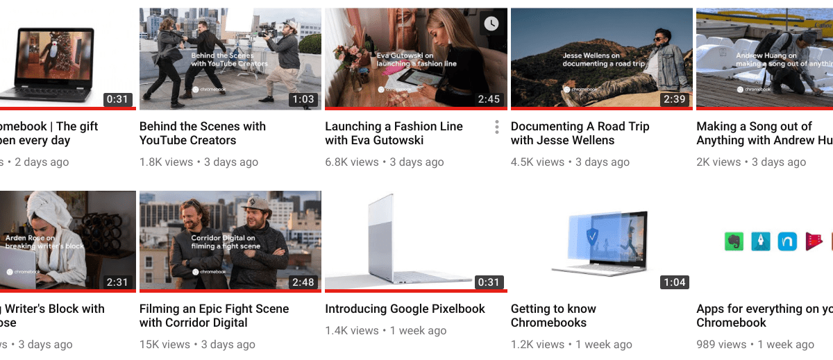 New Chromebook Videos By Google Show Up On YouTube