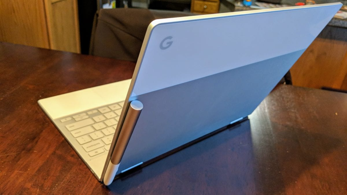 There Is A Place To Store Your Pixelbook Pen When At The Desk