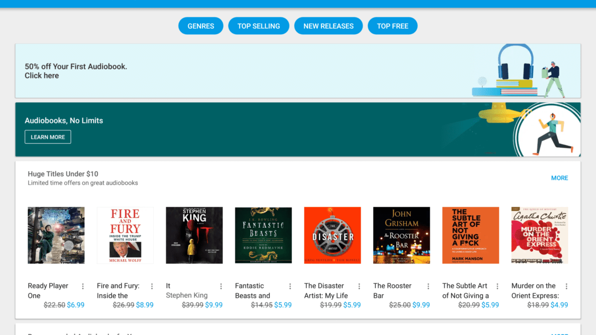 Google Now Offers Audiobooks and They Work With Google Home