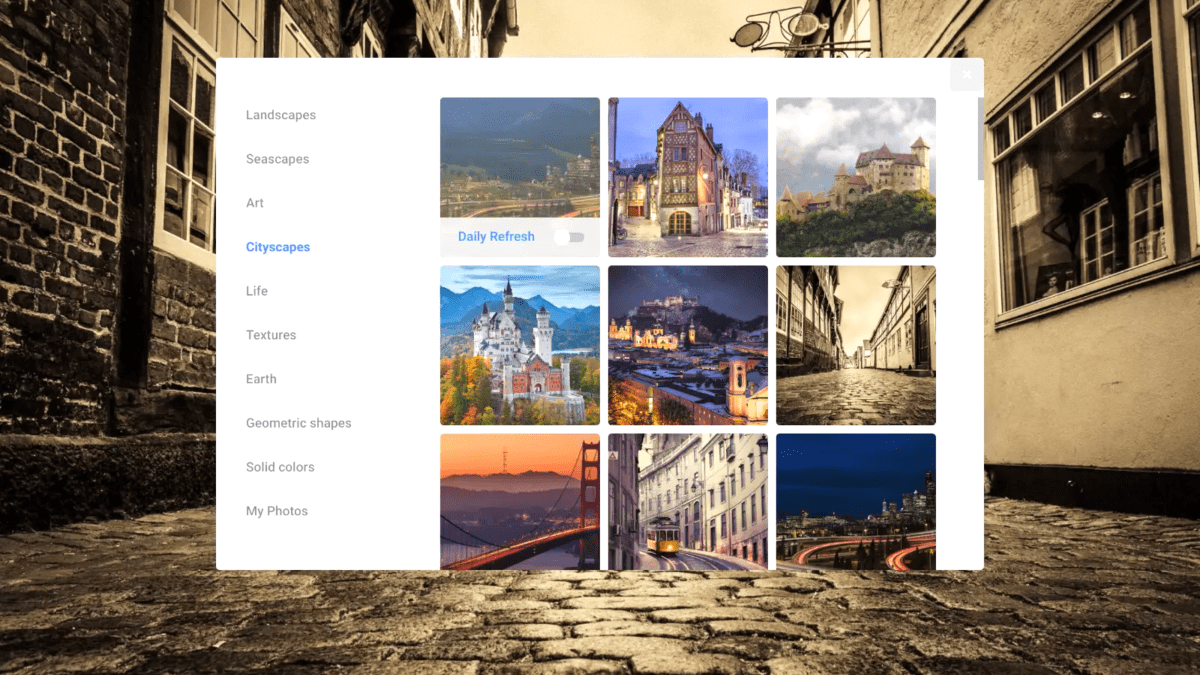 Chrome OS Getting New Wallpaper Picker: First Look