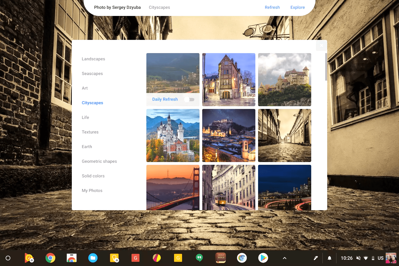 Chrome OS Getting New Wallpaper Picker