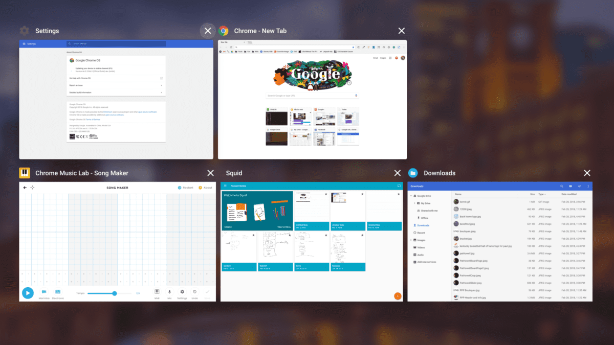 Chromebooks Getting Some New Overview Mode UI Updates
