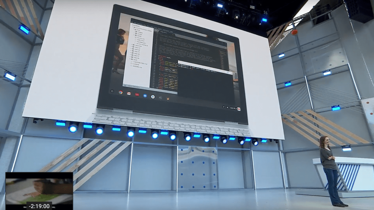 Linux Apps On Chrome OS Become Official, Gets Mention in I/O Keynote