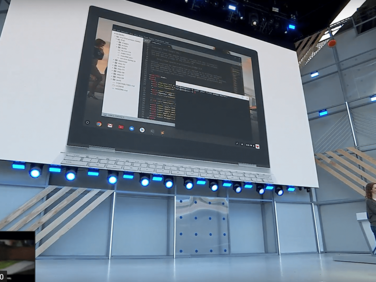 Linux Apps On Chrome Os Become Official Get Mention In I O Keynote