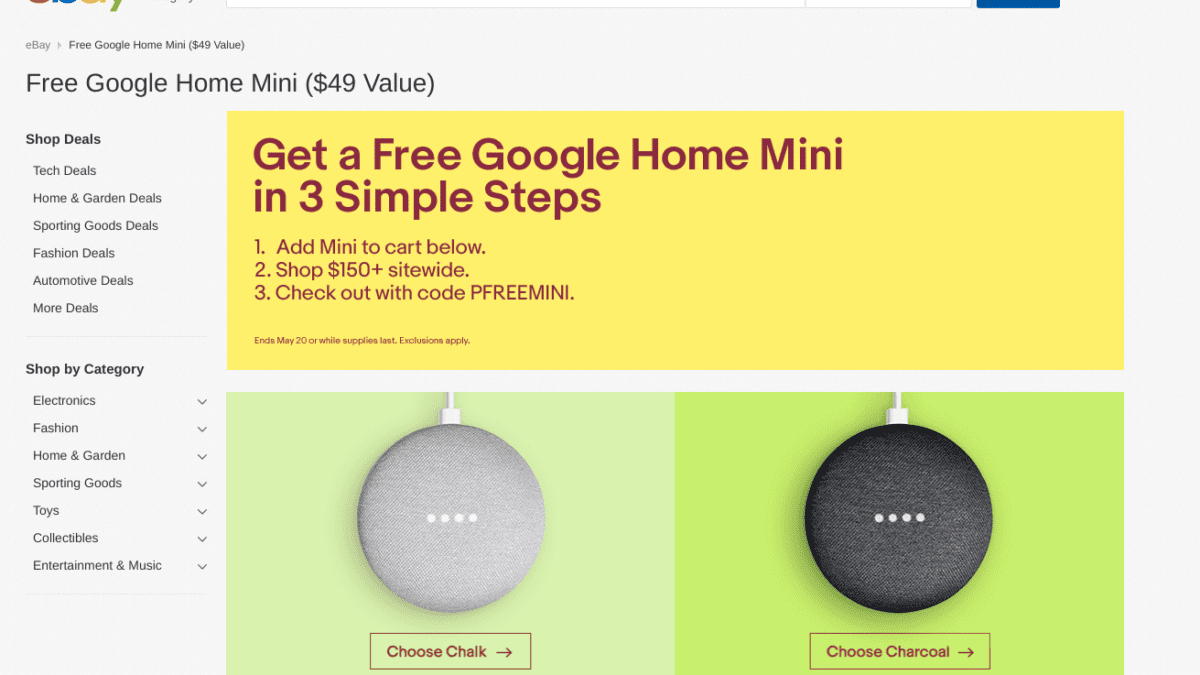 How To Get a Free Google Home Mini From Ebay