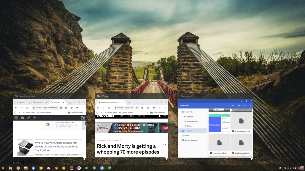 Chrome OS Shelf Adding Overview, Shortcuts and A New Look