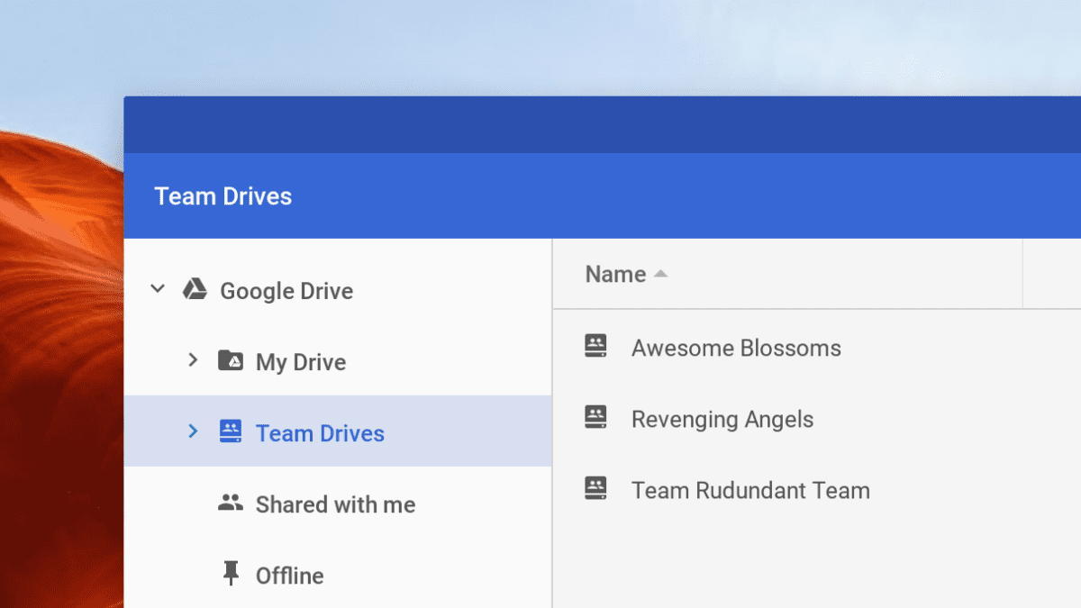 Team Drive Accessible in Chrome OS Files App