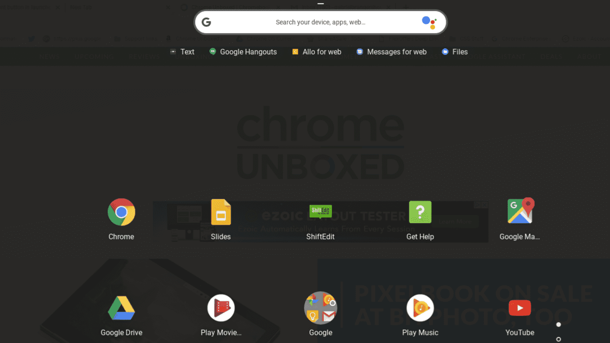 Chrome OS Adding Assistant Button To Launcher