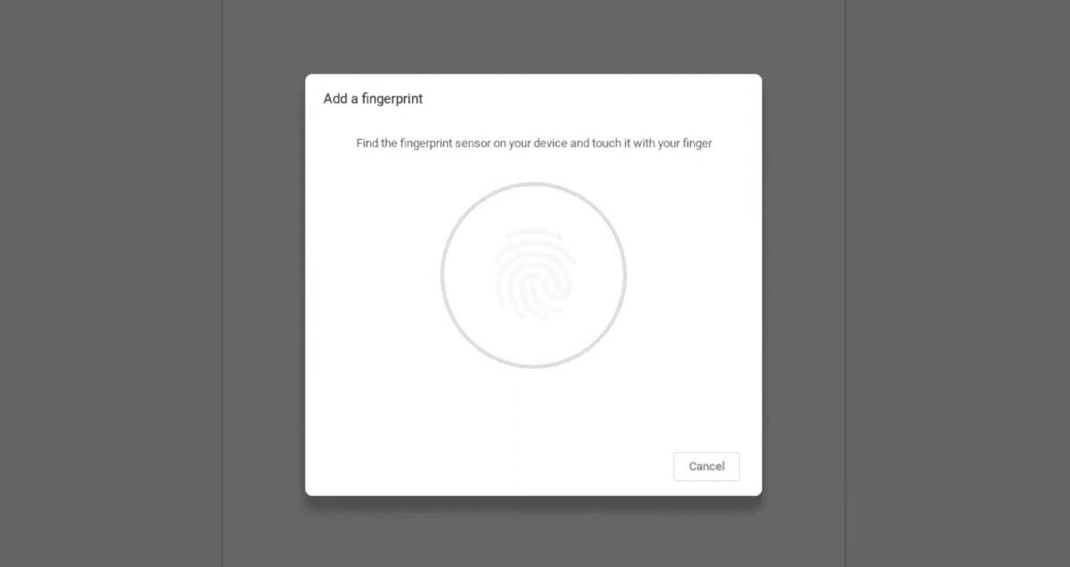 Chrome OS Adding Fingerprint Opt-in Setup