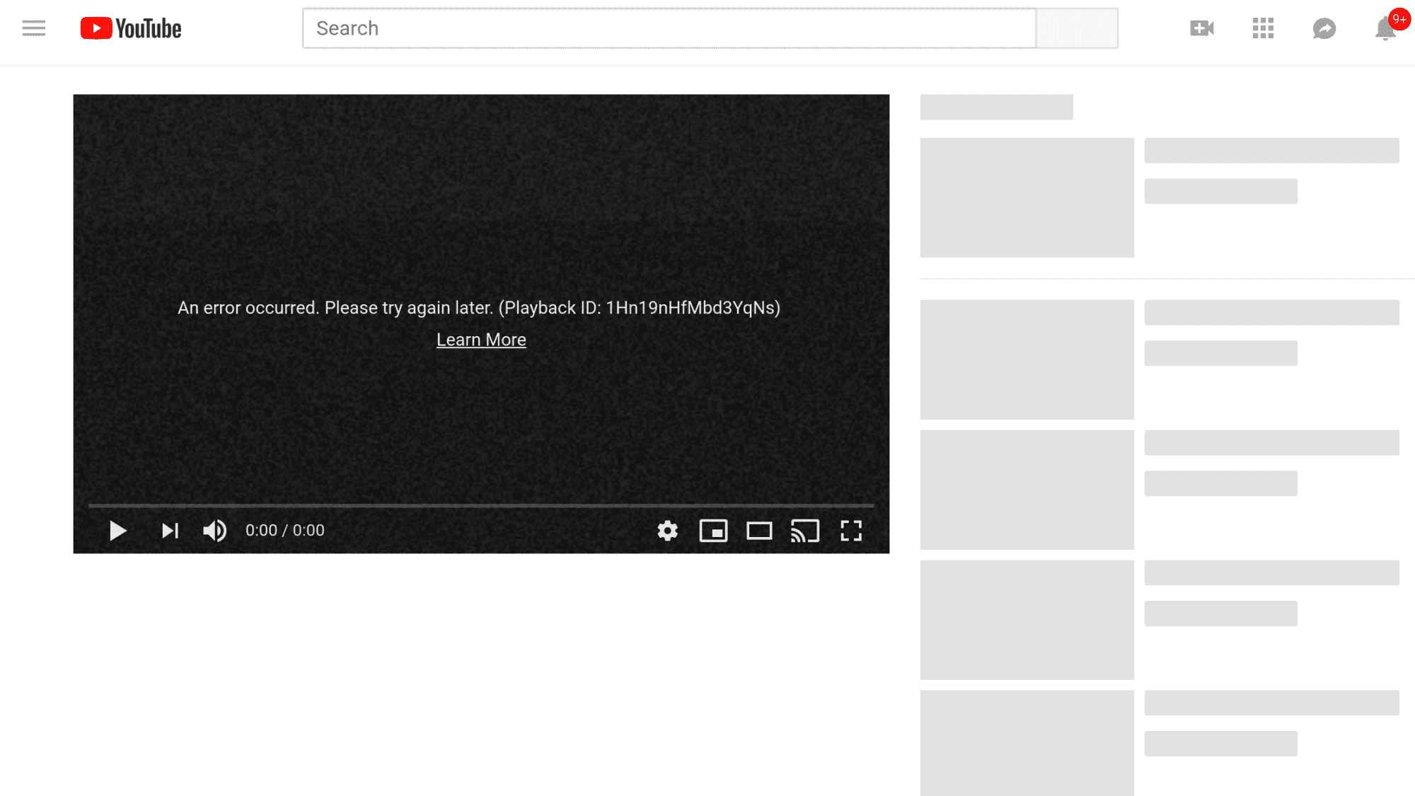 [Updated] It's Not You, YouTube Hit With Major Outage