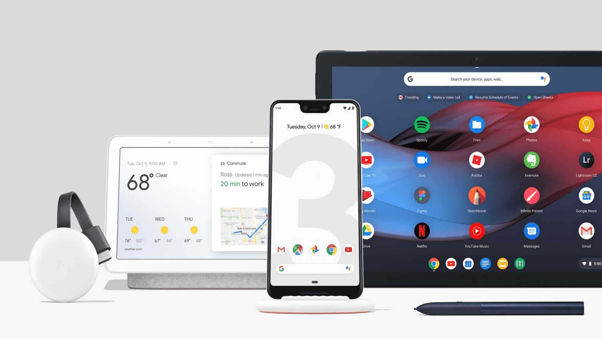 "Chromecast 3 Available. Google Home Hub, Pixel 3 and Stand Pre-orders Live and the Pixel Slate is ""Coming Soon"""