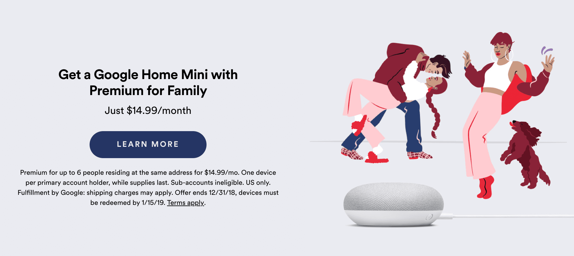 Free Google Home Mini With New Or Existing Spotify Family Account