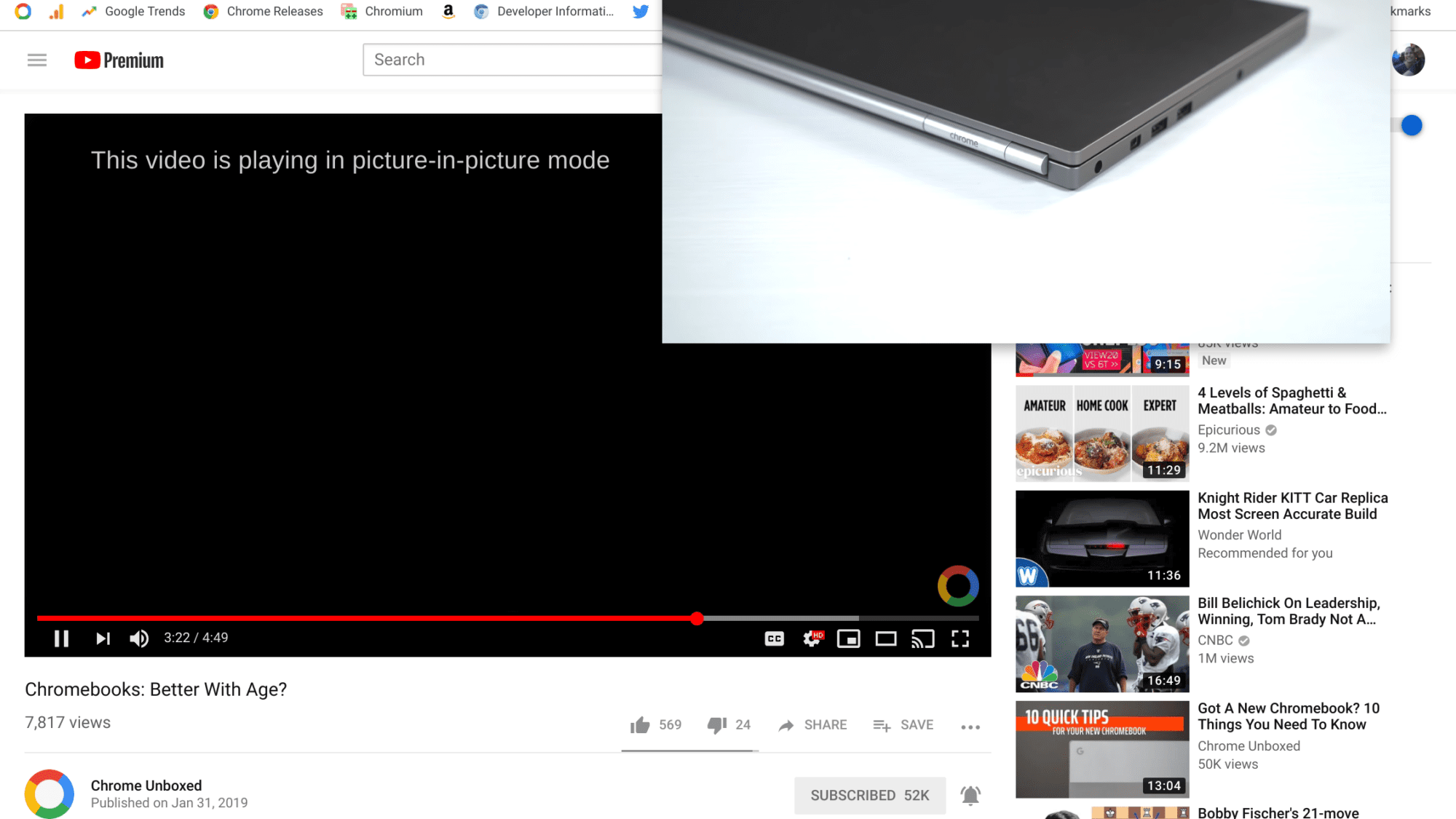 Picture In Picture Lands In Chrome OS 72 Via Google Extension