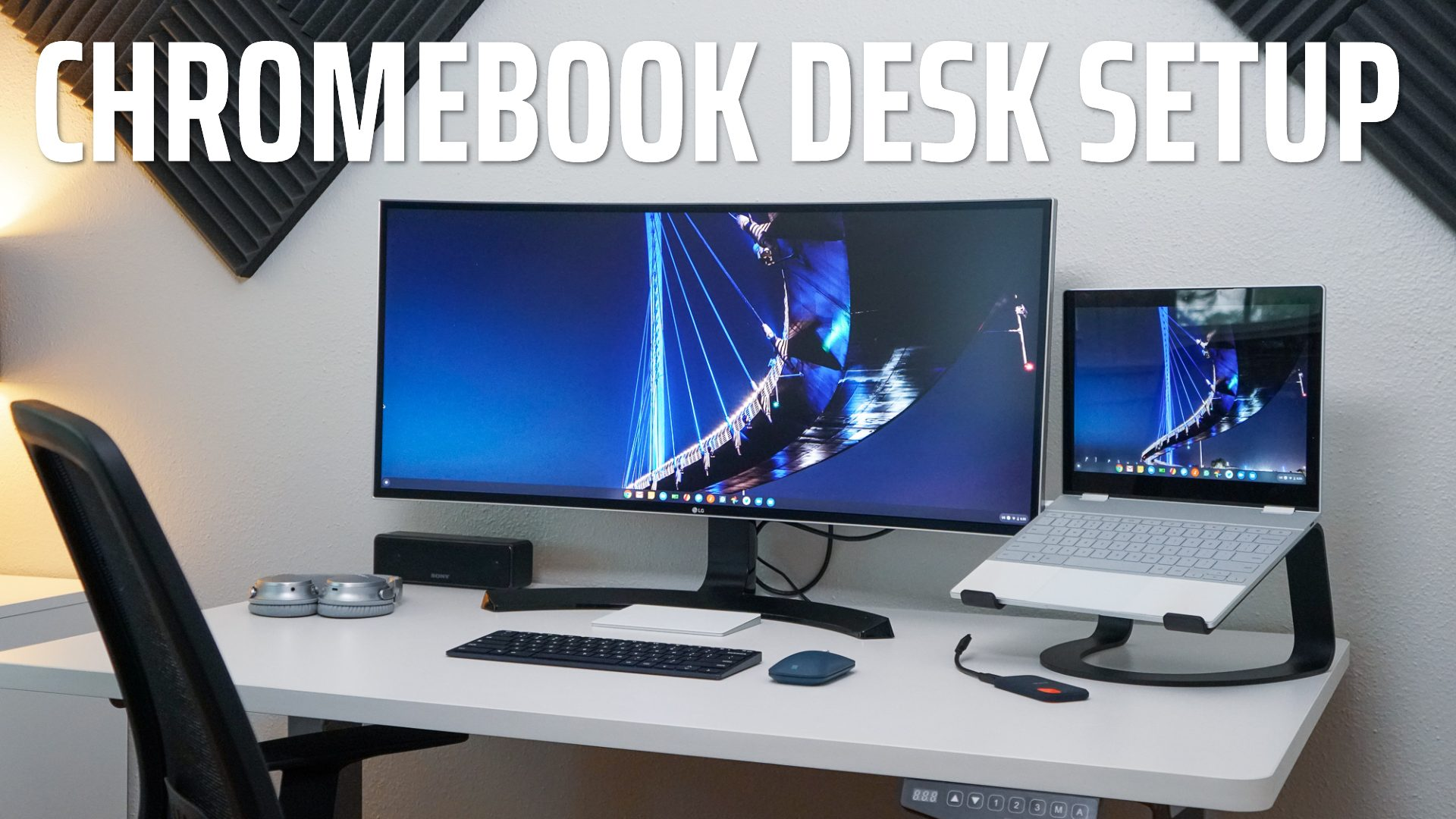The Clean, Minimal Chromebook Desk Setup