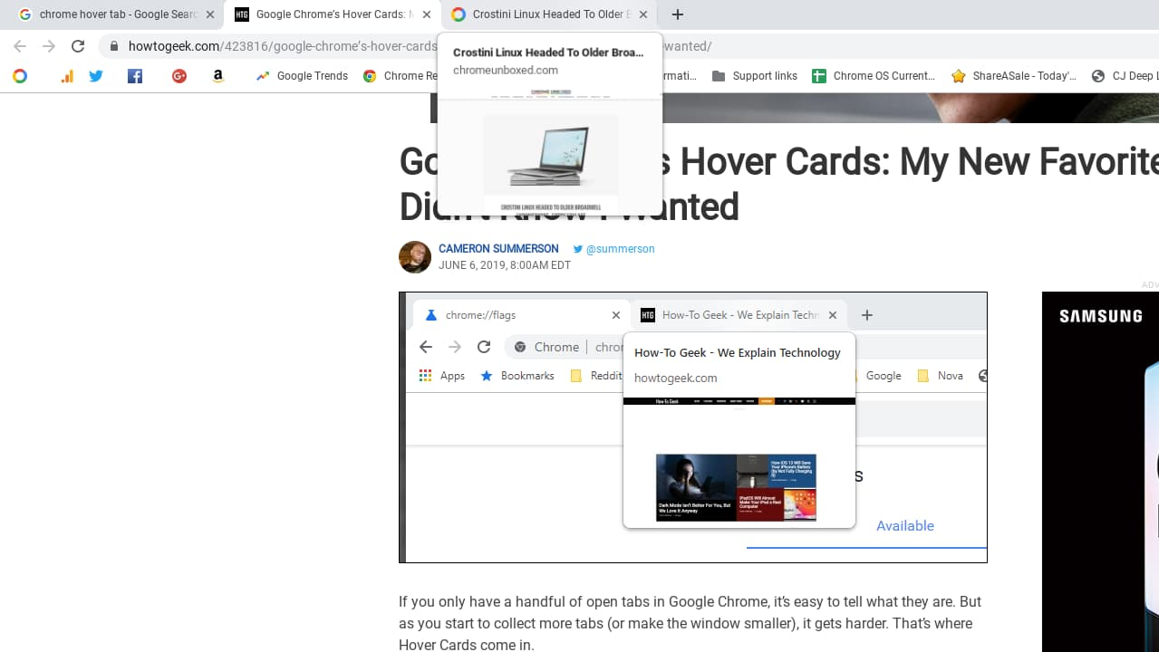 Hover Tab Image Preview Now In Beta For Chrome OS