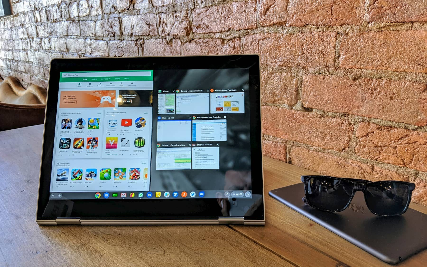 Chrome OS Overview Mode UI Overhaul In The Works
