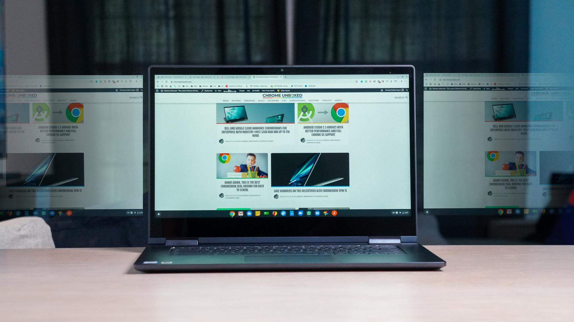 The full Virtual Desks experience landing in Chrome OS 78 with a big change to trackpad gestures