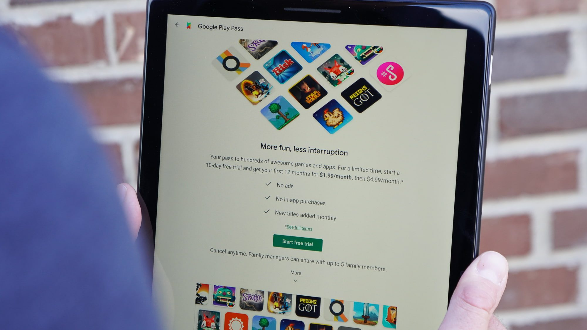 Google launches Play Pass app subscription: hundreds of games and apps for $1.99 a month
