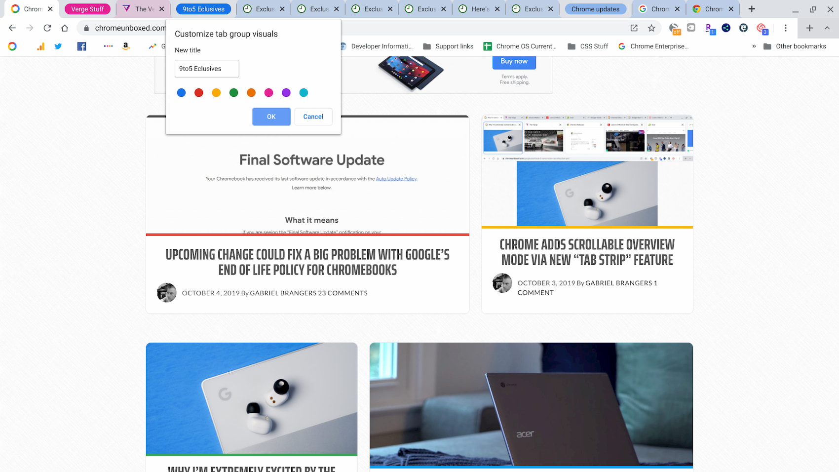 "Chrome's upcoming ""Tab Groups"" adds some handy new features"