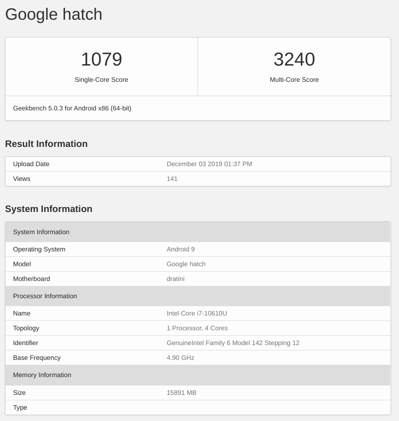 New Chromebooks 2020.Upcoming Chromebook Dratini Spotted In Geekbench With