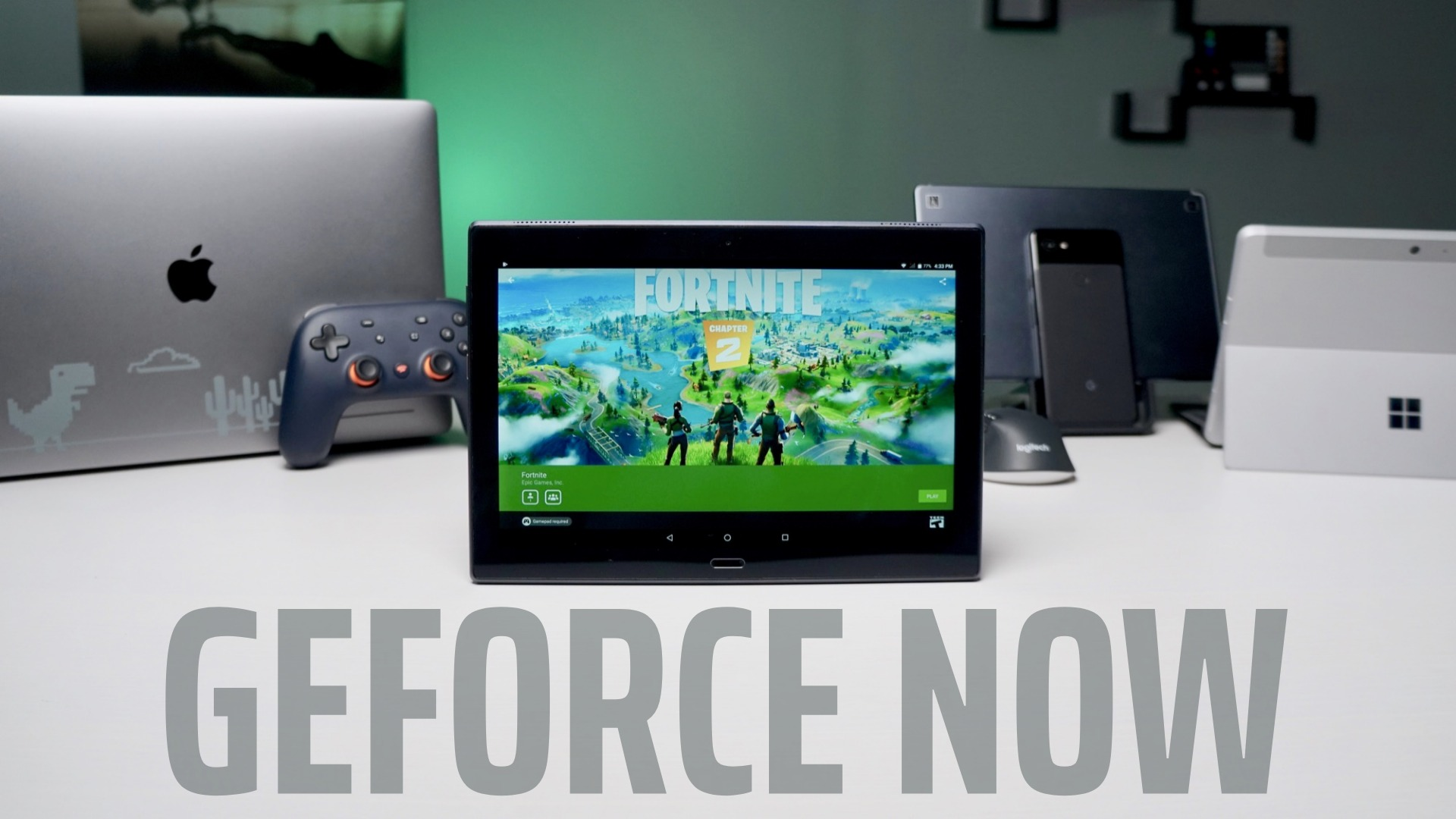 NVidia GeForce NOW installs from the Play Store on ARM-powered Chromebooks just fine
