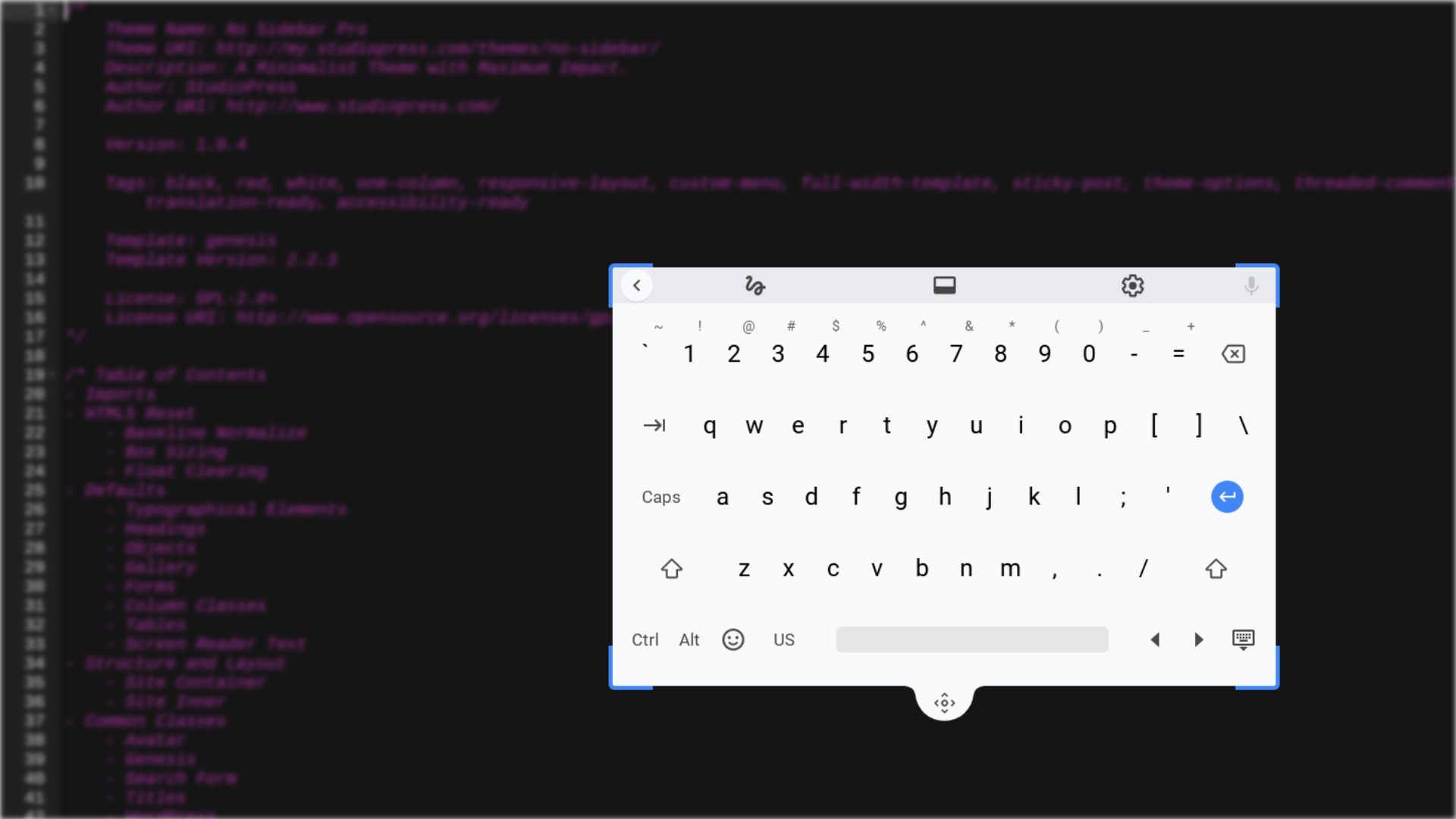 Chrome OS floating virtual keyboard will soon be resizable