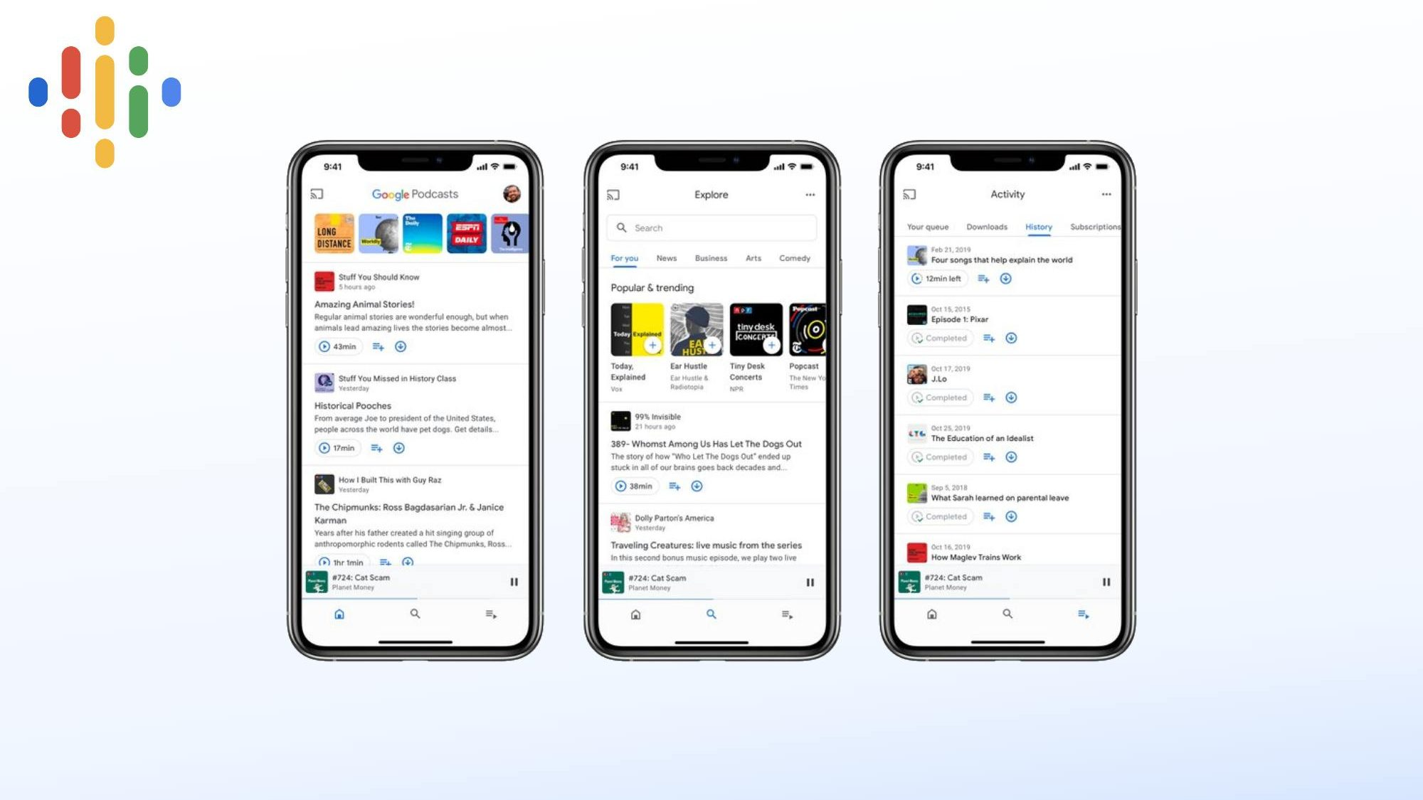 Google gets serious about podcasts with updated app layout and launch on iOS