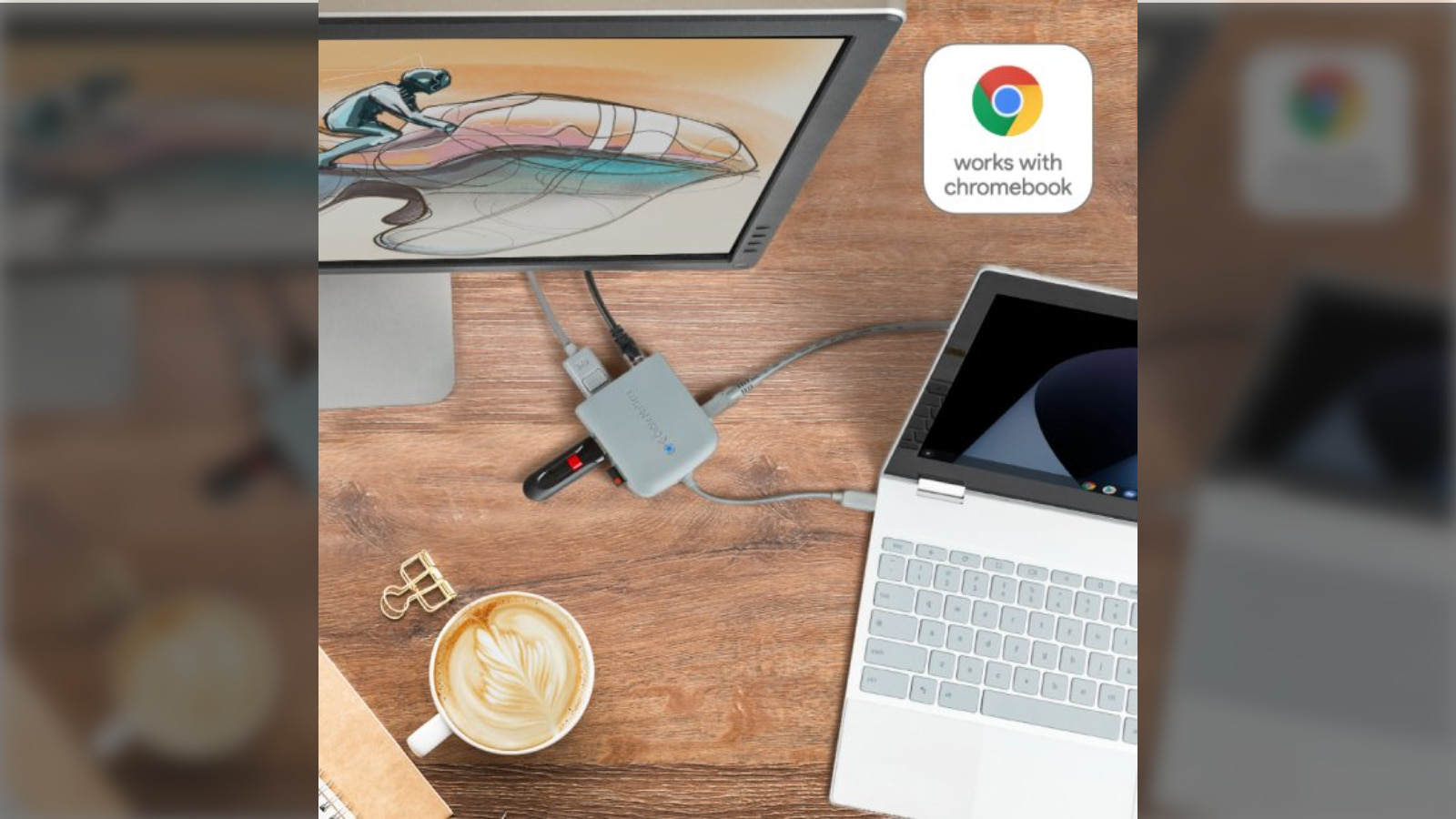 """Works with Chromebook"" officially launched for certified Chrome OS accessories"
