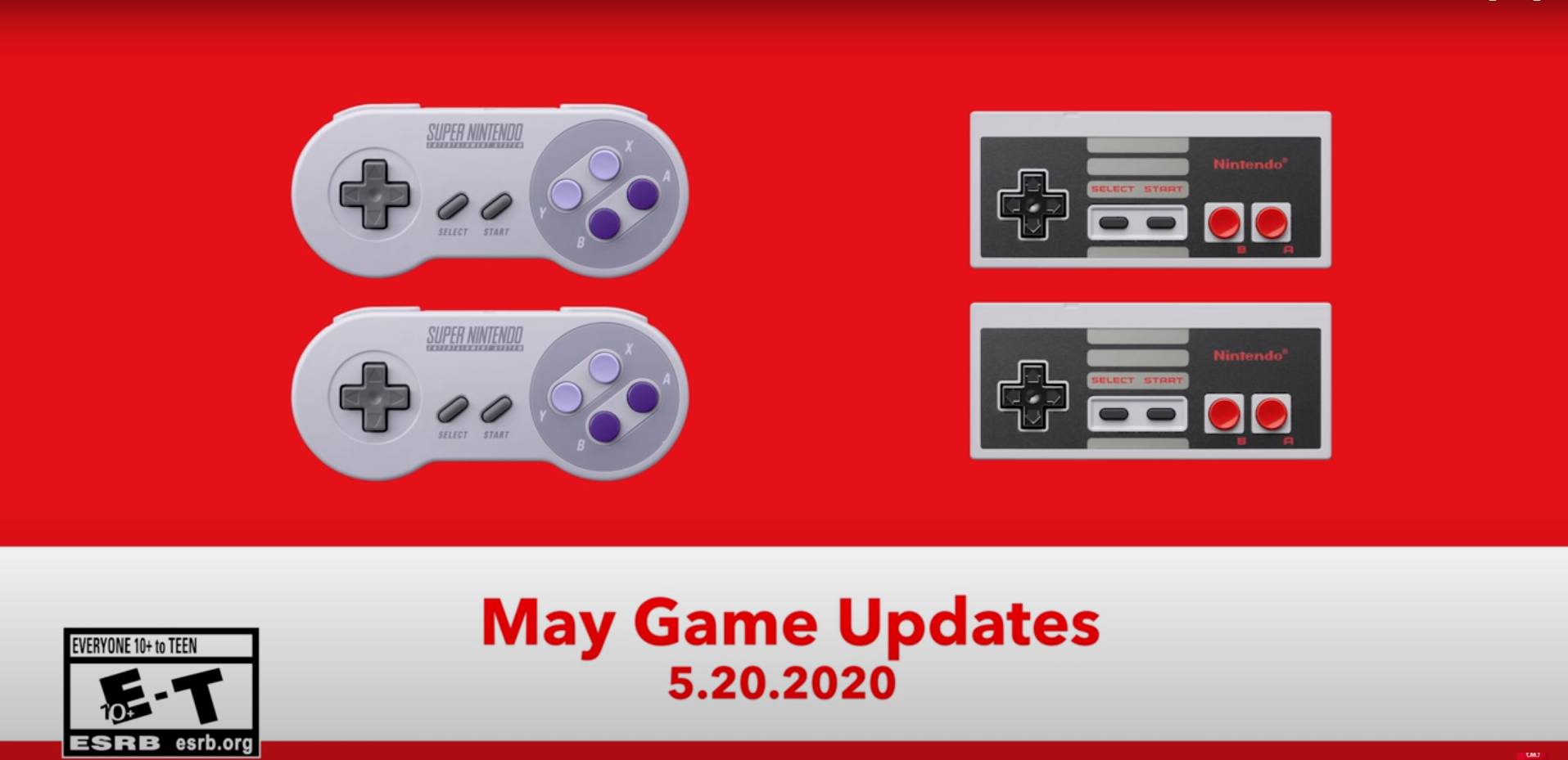 Here are Your Switch Online Game Updates for May