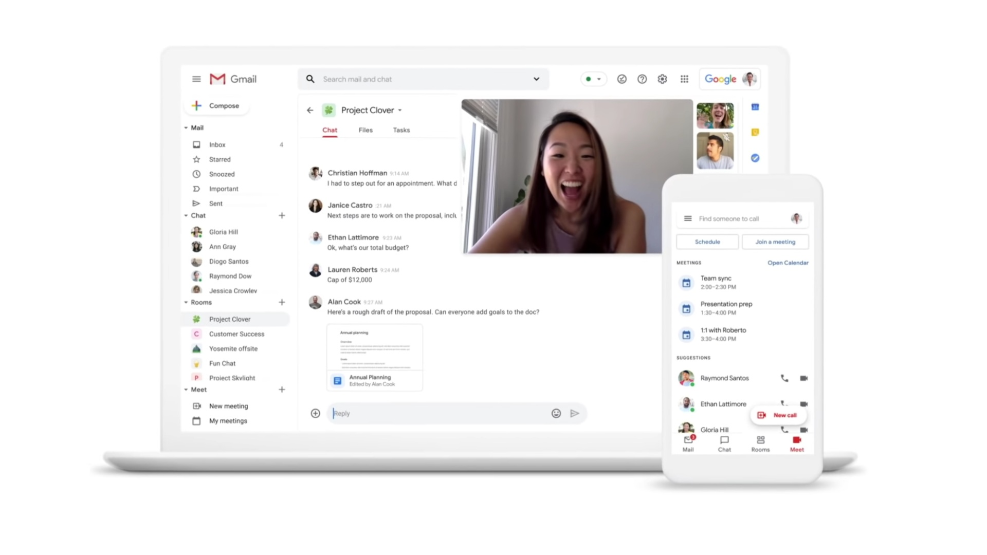 Google adds Chat, Calendar, and Jamboard to Workspace Essentials for free