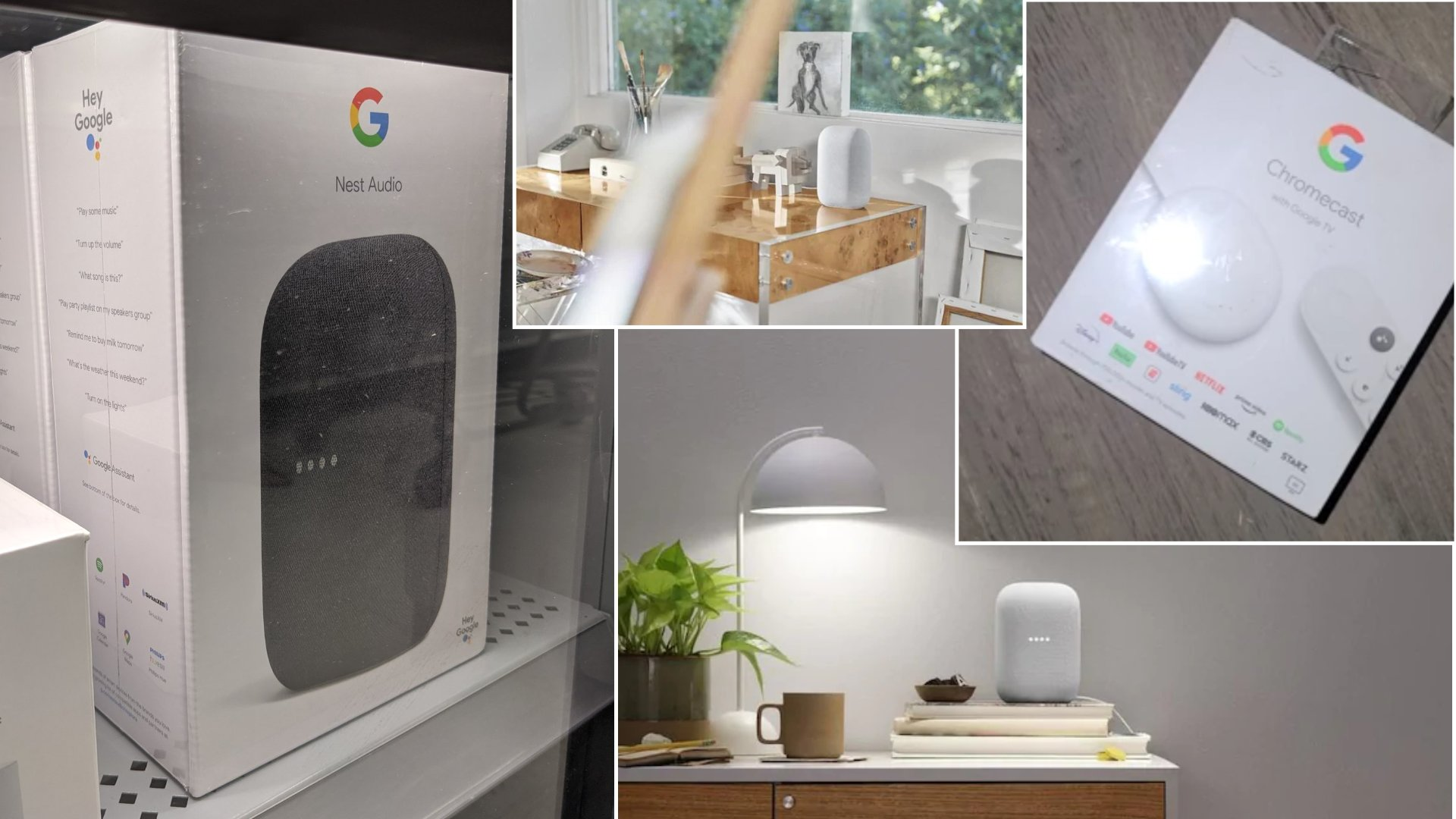 Google's new Chromecast and Nest Audio speaker are hitting store shelves early