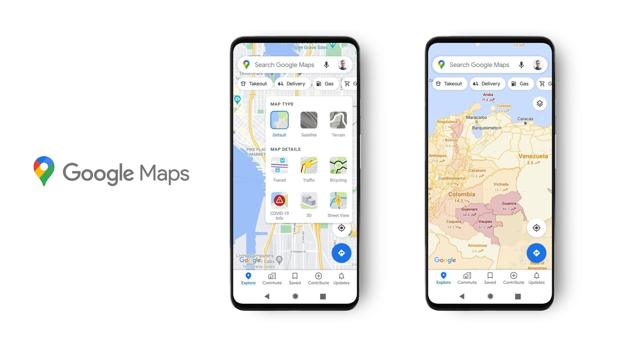 Google Maps update adds data layer for COVID-19 cases near you