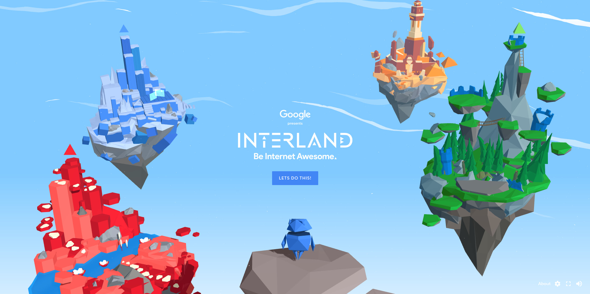 Be Internet Awesome! Interland is a fun game that teaches your kids about online safety
