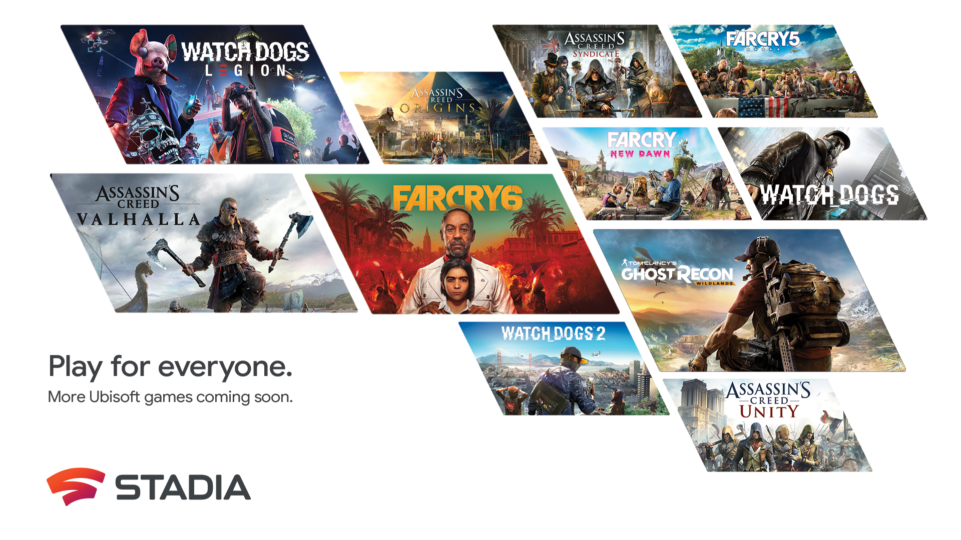 Ubisoft is bringing a back catalog of their games to Stadia, likely to make a UPlay+ announcement during upcoming event