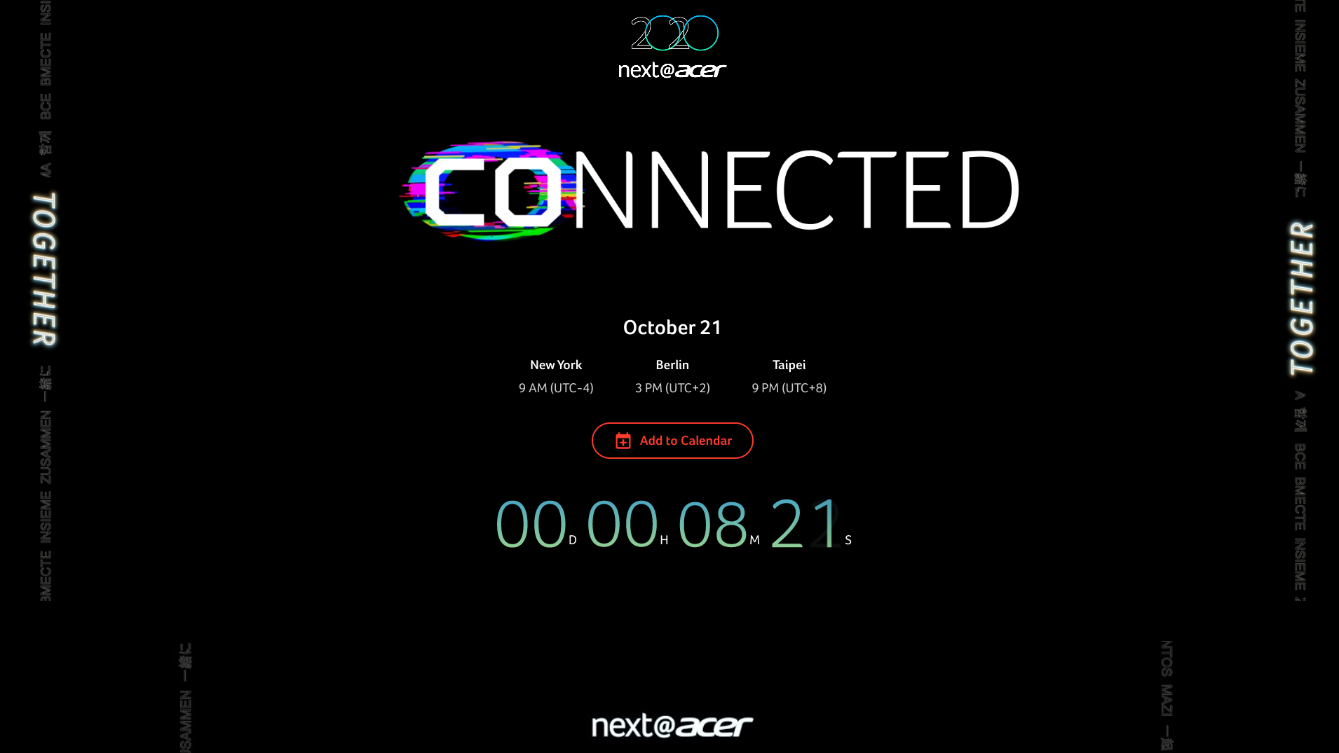 Watch Acer's October Press Conference right here at 9AM EST