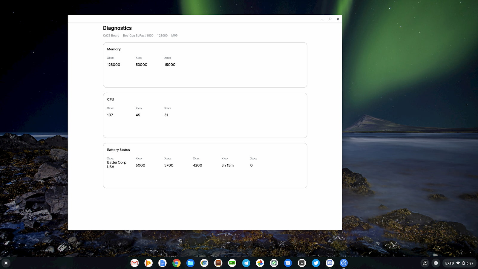 An early look at the upcoming diagnostic app for Chromebooks