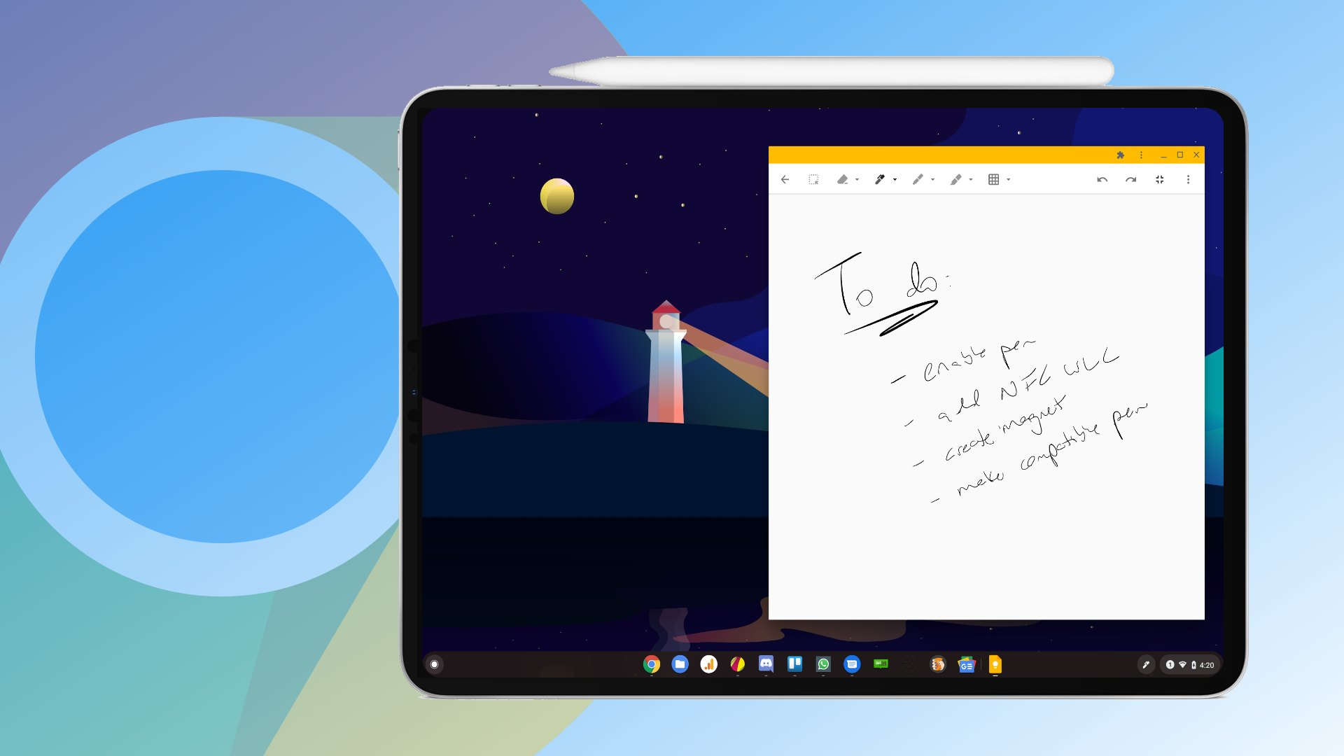 Confirmed: Snapdragon Chrome OS tablet 'Coachz' will have an external wireless charging stylus