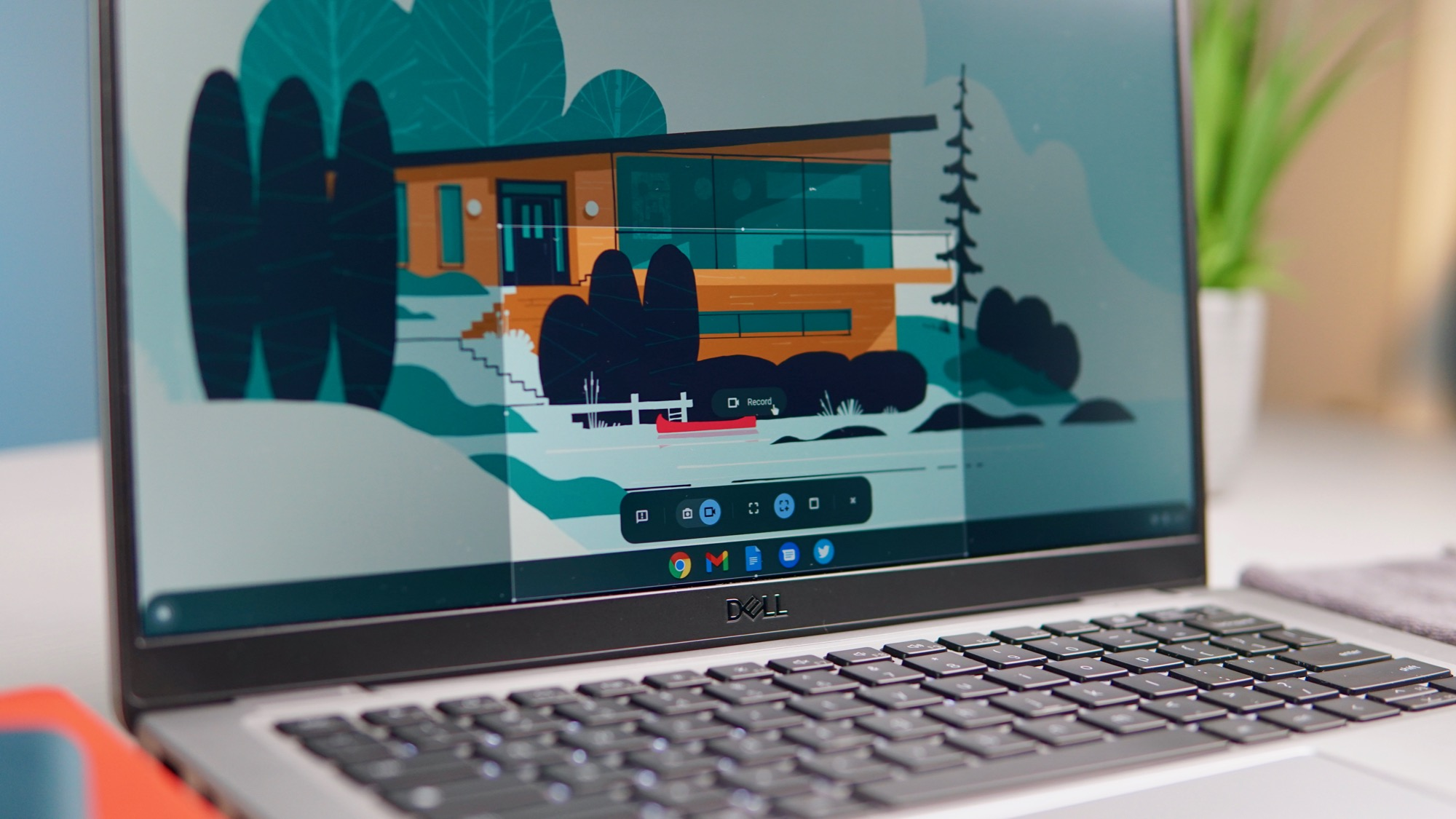 New Chromebook screen capture to get deeper settings and microphone toggle