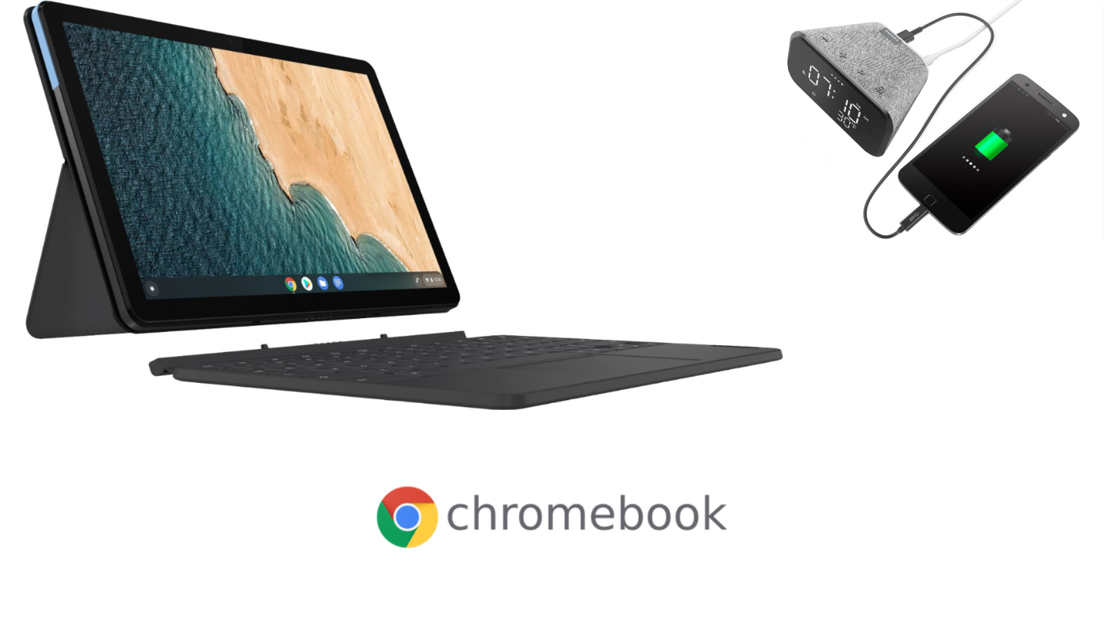 Price Drop: The Lenovo Chromebook Duet is now $229 (Bonus: $15 Smart clock)