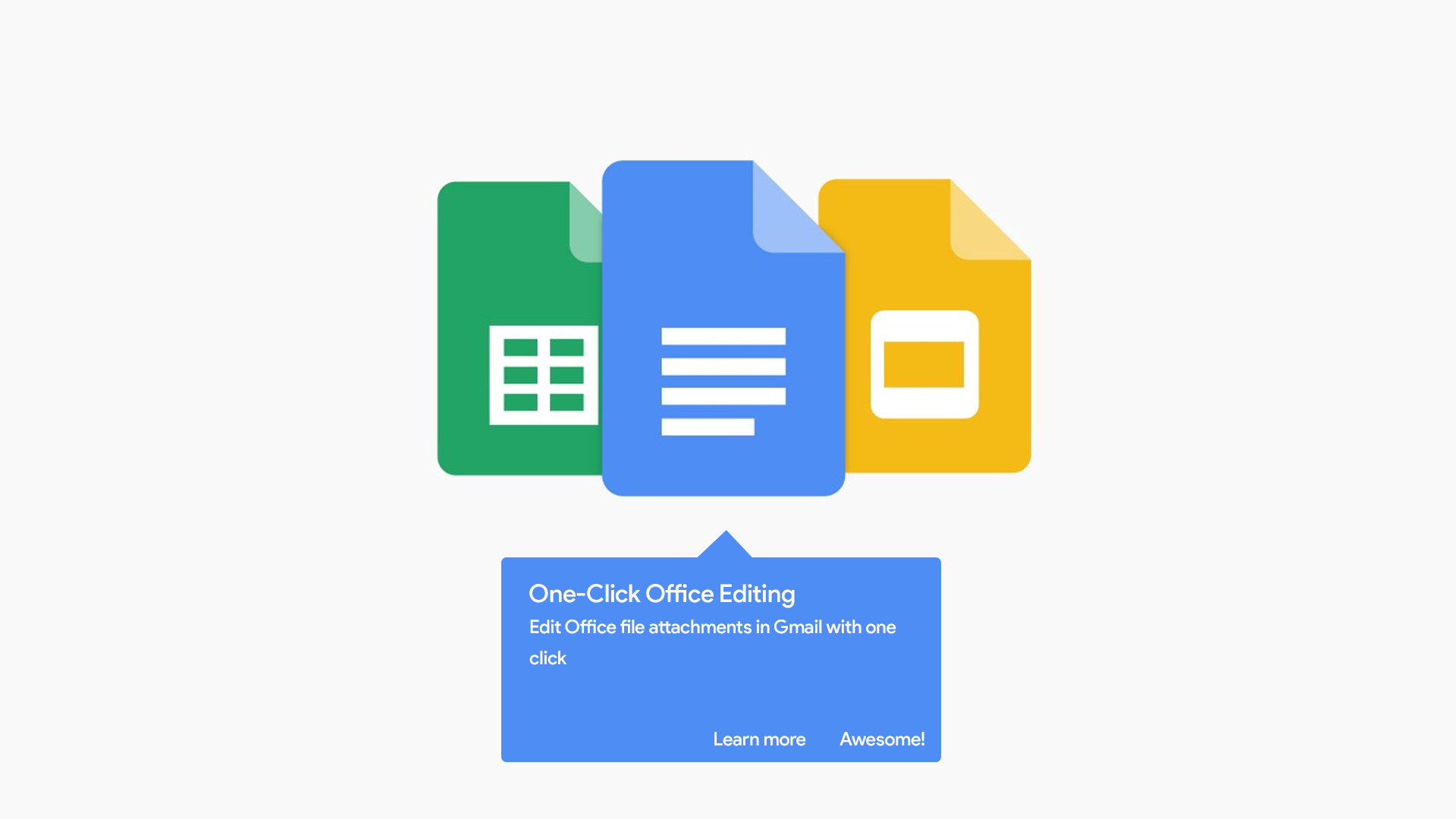 Editing Office files from Gmail attachments will now be simplified to one click