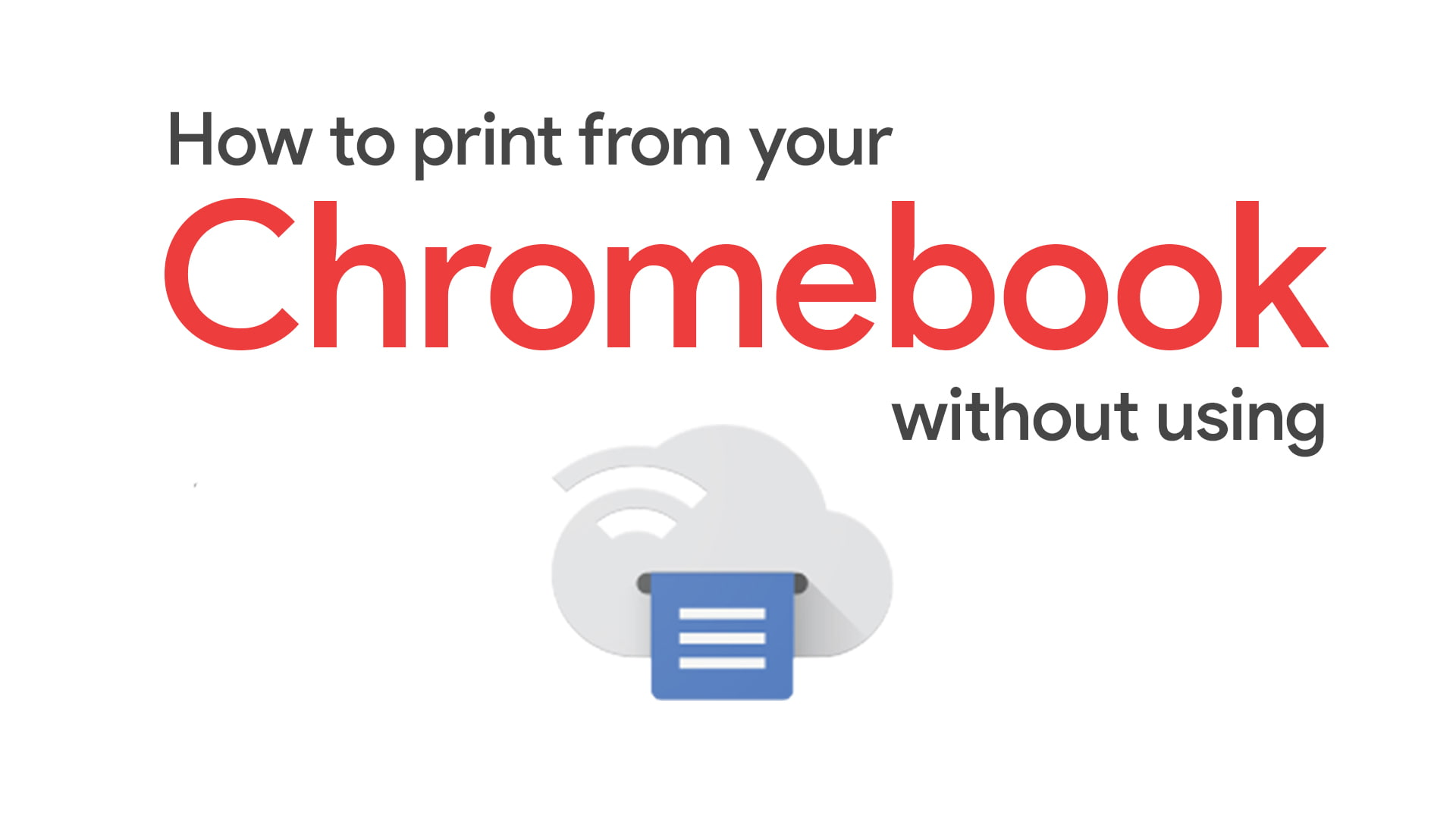 How to print from your personal Chromebook without Google Cloud Print