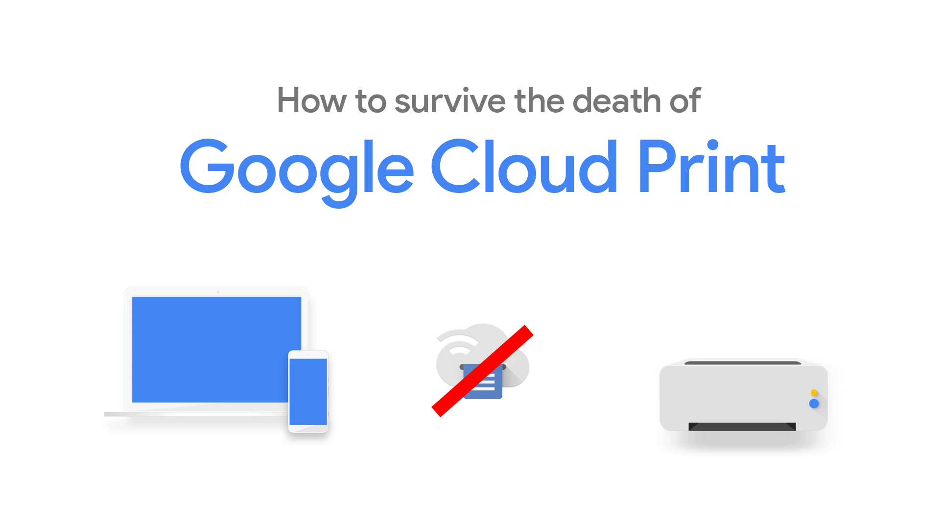 How to enable wireless printing for your students or employees and survive the death of Google Cloud Print