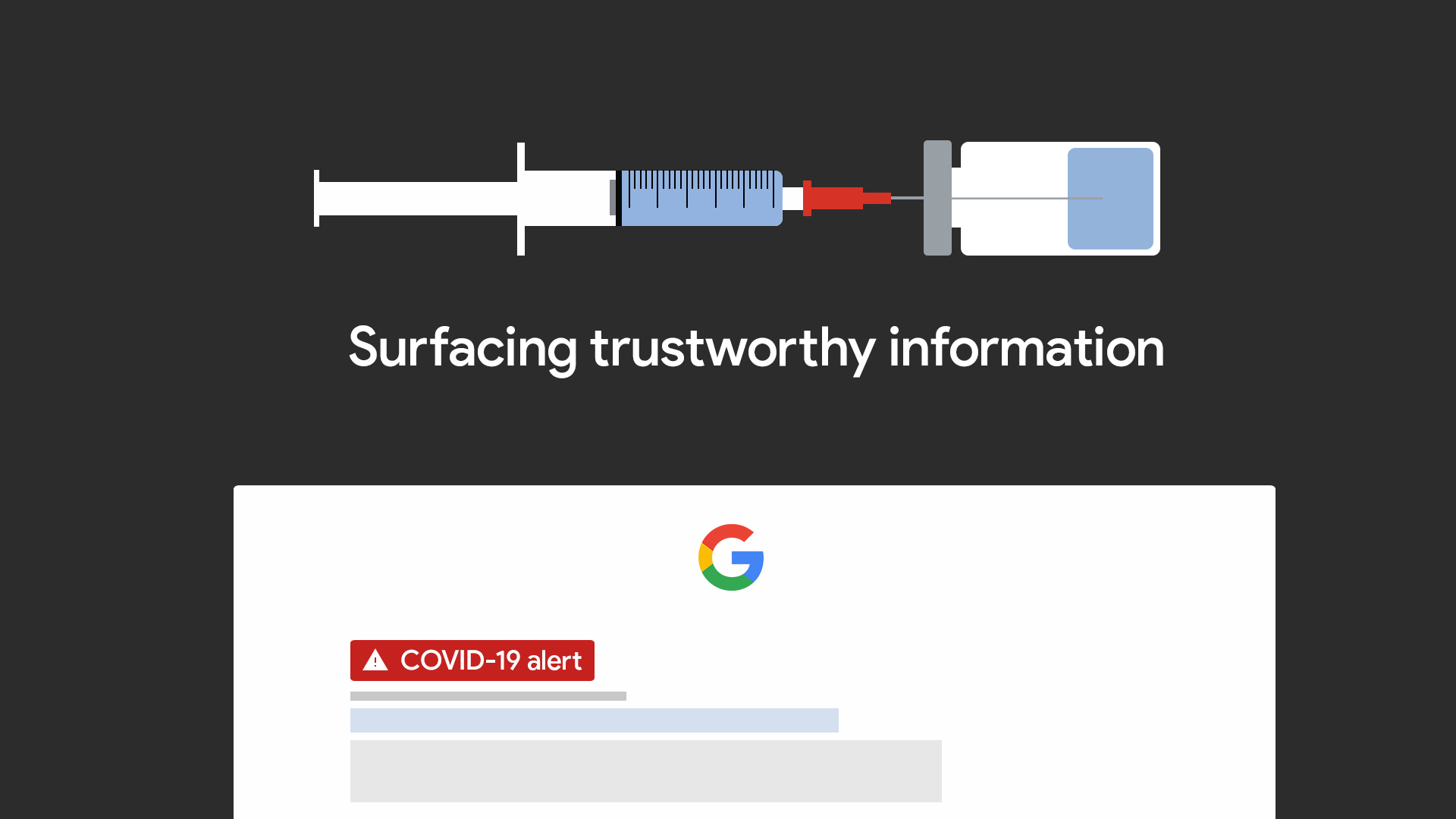 Google Search will surface trustworthy vaccine information using fact-checking research