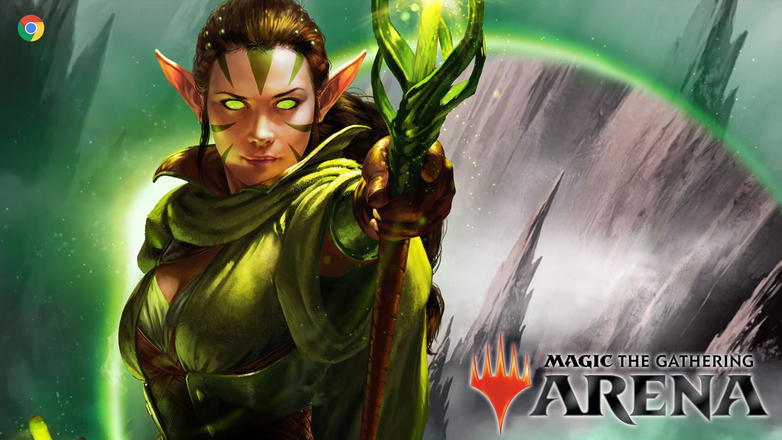 You should be able to play Magic the Gathering: Arena natively on your Chromebook soon