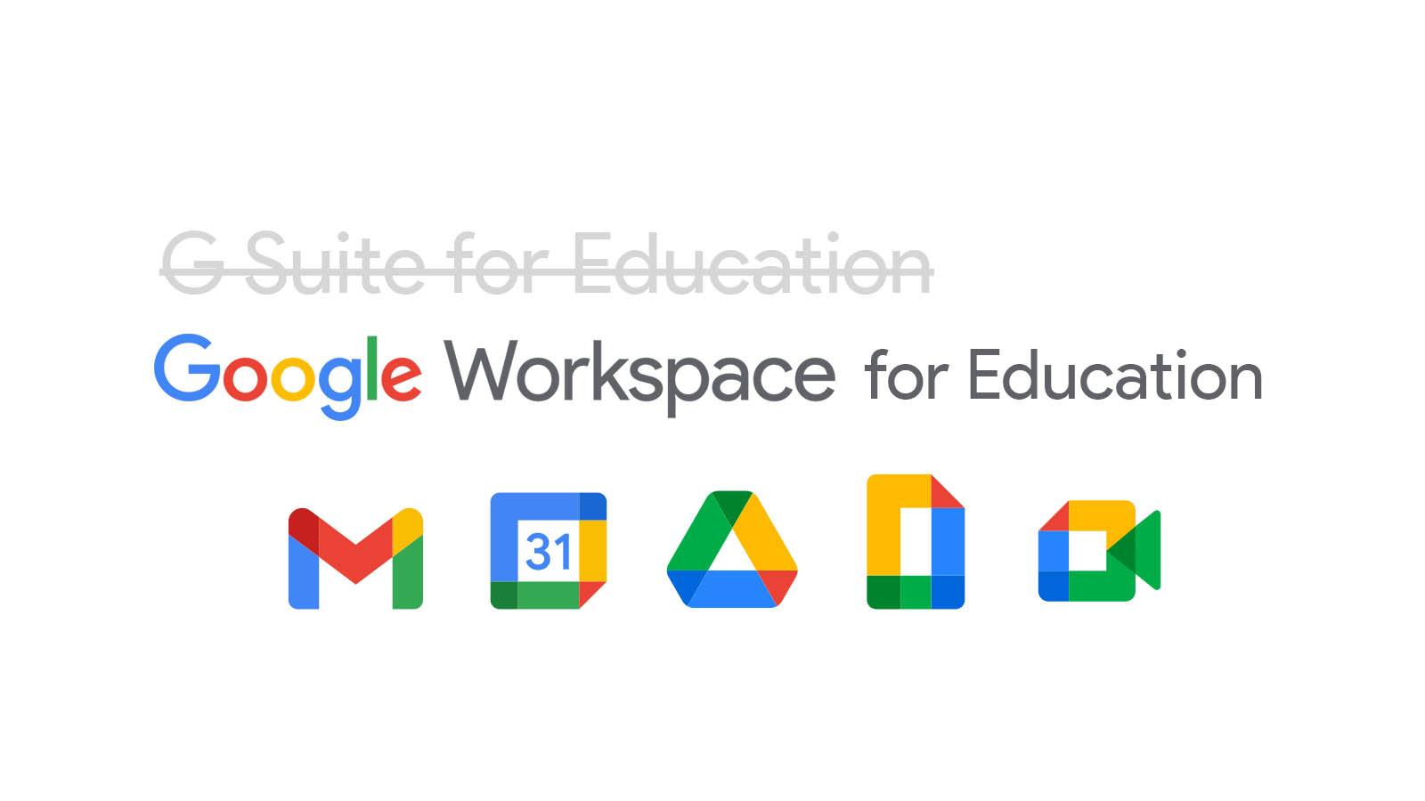 Enterprise and G Suite for Education are dead. Long live Google Workspace for Education