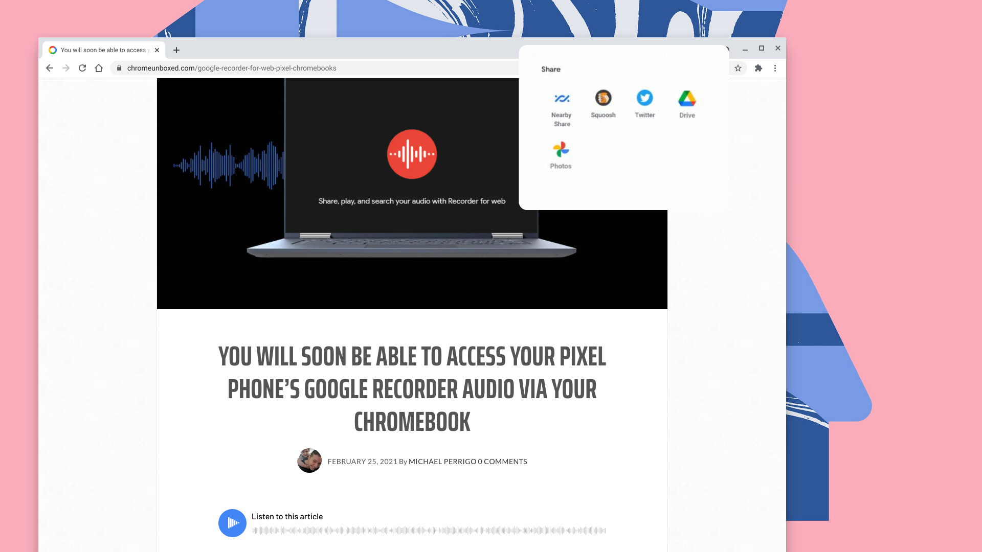 Chrome OS sharing Hub could bring easier sharing to Chrome and PWAs
